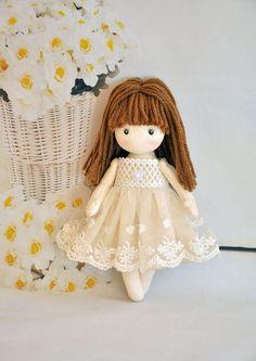 Little ballerina doll, doll angel, fairy Rag doll Textile doll Decorative doll Collectible dolls Ballerina Doll, Little Ballerina, Doll Crafts, Diy Doll, Frozen Dolls, Craft Accessories, Sewing Dolls, Fabric Dolls, Rag Dolls