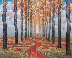 Jacek Yerka, Autumn Labyrinth