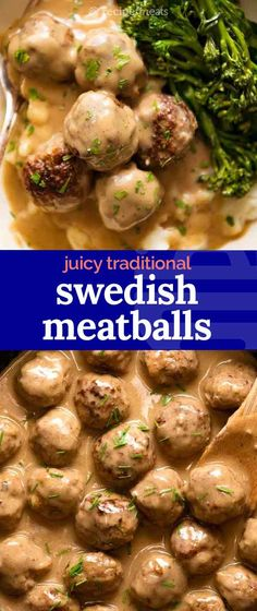 These heavenly Swedish Meatballs are the homemade version of the iconic Ikea meatballs. Pork Recipes, Vegan Recipes, Cooking Recipes, Hamburger Recipes, Curry Recipes, Easy Dinner Recipes, Breakfast Recipes, Ikea Meatballs, Lotsa Pasta