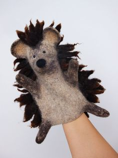 the hedgehog hand puppet wet felted Bob Marley style by bibabo, €65.00