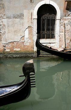 Gondola on Rio di S, Moise, Venice, Italy