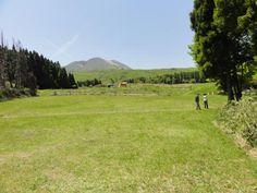 月とキャンプとバウルーと:坊中キャンプ場(阿蘇坊中野営場)を見学
