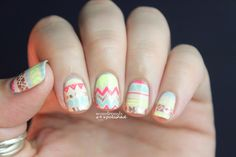 Wondrously Polished: Sunglow Stripes