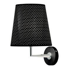 Chelsom Taper Wall Light Black & Chrome