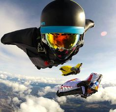 RedBull wing suit. Skydiving.