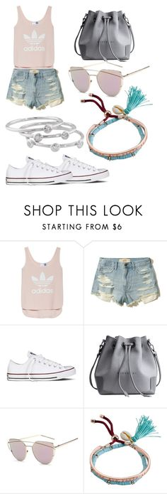 """""""Casual outfit"""" by eehuang ❤ liked on Polyvore featuring adidas, Hollister Co., Converse, Billabong and London Road"""