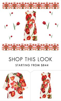 """""""Among red tulips"""" by missloveschic ❤ liked on Polyvore featuring Dolce&Gabbana"""