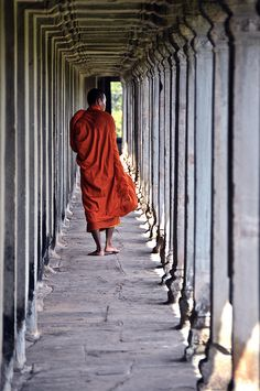 I took a picture with monks in Japan....I hope Cambodian monks will be as friendly! Angkor Wat, Cambodia