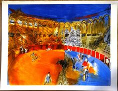 Raoul DUFY Bullfighting french painting by MarieArtCollection