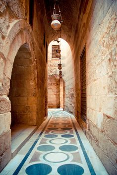 Egyptian Mosque Hallway and doors....stunning tile work!