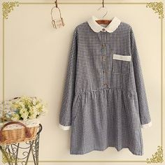 Fairyland - Long-Sleeve Check Dress