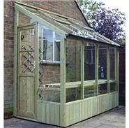 View the BillyOh Swallow Finch Lean-To Pressure Treated Wooden Greenhouse http://www.gardenbuildingsdirect.co.uk/Wooden-Greenhouses