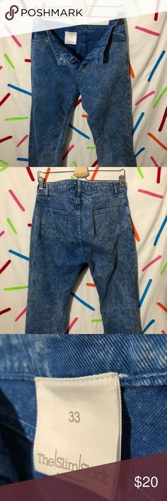 Acid Wash Jeans American Apparel's classic acid wash slim slack. (Not in production anymore). Denim unisex jeans with slight stretch. American Apparel Pants Skinny