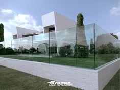 Guarda corpo de vidro NINFA - FARAONE Interior Exterior, Glass Balustrade, Glass Railing, Plank, Glass Balcony, Glass Fence, Swiss Chalet, Beautiful Architecture, Glass Panels