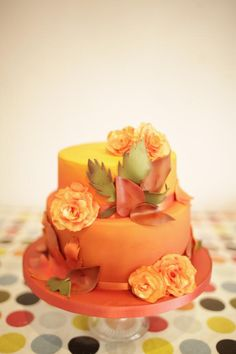 Autumnal Birthday cake - Cake by Kasserina Cakes