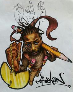 Ol Dirty Bastard #ODB, Nigerian artist, Aniekan Udofia