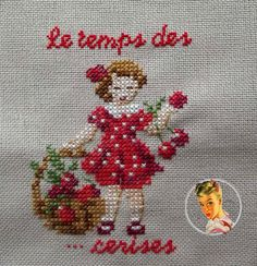 This Pin was discovered by nur Cross Stitch For Kids, Cross Stitch Kitchen, Just Cross Stitch, Cross Stitch Baby, Cross Stitch Alphabet, Cross Stitch Flowers, Cross Stitch Embroidery, Hand Embroidery Patterns Flowers, Hand Embroidery Designs