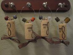 Wine Glass Cork Charms