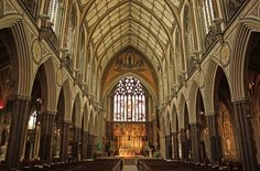 Farm Street church (looking east)  The High Altar and reredos of the church of the Immaculate Conception is by Pugin and the church was designed by J. J. Scoles in 1844-9.  | by Lawrence OP