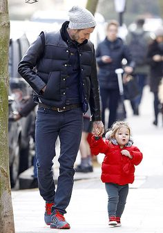 David Beckham with daughter Harper