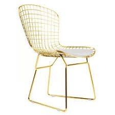 Image Result For Gold Bertoia Style Chairs Floral Cushion