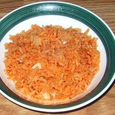 This is definitely probably the recipe they use in the restaurants.. I've never gotten close to it but I finally got it.. Here's the best recipe I could find for authentic restaurant style Mexican rice.    allrecipes.com/re...