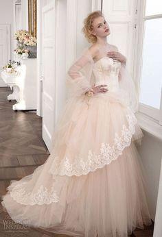 Princesse Bretelles NEW Rose Blanc Ivoire Applique Tulle Robe DE Mariée Taille | eBay