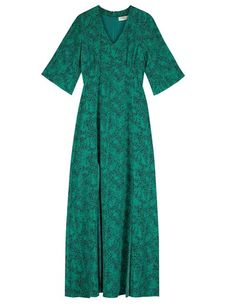 Beatrice silk maxi dress from Pyrus. This Pyrus is a beautiful silk maxi dress in Tiny Animal Print is in a jade with a very subtle black and neon Dress Outfits, Fashion Dresses, Blouses Uk, Pyrus, Eye For Detail, Blouse Dress, Personal Style, Short Sleeve Dresses, Summer Dresses