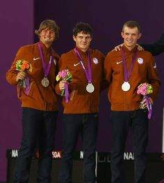 Silver Medal!  The men's archery team took home the first medal for Team USA.