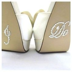 I DO shoe stickers WEDDING SHOES diamonds & rhinestones BRIDAL accessories groom