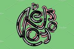 """I love you"" by TSAPLYA on @creativemarket #lettering #graphic #design #creative #market #typography #calligraphy #illustration #creativemarket #valentine #day #love #valentines"