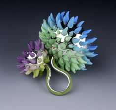 An-Fen Kuo, BCU, Polymer Clay and Metal Ring.