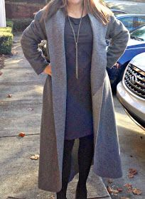 Easy blanket coat using burda pattern no hemming