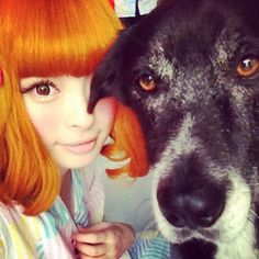 Giant Eyes… and a dog! I'm sold.