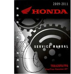 2009-2011 Honda TRX420 Rancher ATV Service Repair Manual OVER 600 PAGES IN EASY PDF FILE FORMAT 2009 2010 2011 Available Here http://james6269.tradebit.com/detail/256519353-2009-2011-honda-trx420-420-rancher-atv-service