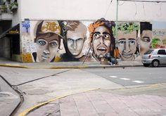 Urban art - Intervención urbana artística con un mural pintado muy expresivo en la Ciudad de Buenos Aires