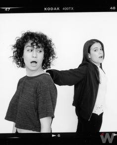 """Abbi Jacobson and Ilana Glazer talk to TheWrap about their unlikely guest star on """"Broad City"""" Curly Hair Cuts, Curly Hair Styles, Deva Cut, Abbi Jacobson, Slay Girl, Broad City, The Hollywood Reporter, Girl Crushes, Girls Be Like"""