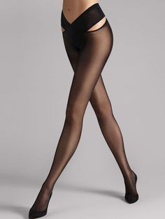 Experience the perfect fusion of innovation and decadence. Stay-Hip tights offer the freedom of stay-up hosiery and the comfort of tights. This season, stay hip with Wolford. Wolford Tights, Nude Tights, White Tights, Sheer Tights, Stockings Lingerie, Sexy Stockings, Wolford Stockings, Outfits, Sexy Lingerie