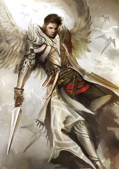 Character design and concept development - Supernatural Archangel Dean by theDURRRRIAN Male Angels, Angels And Demons, Supernatural Angels, Character Art, Character Design, Angel Warrior, Ange Demon, Angel And Devil, Fantasy Male