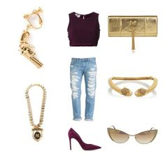 Fall color + gold accessories || kind of a vampy look with a touch of chicness.