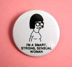 Tina Belcher -Bob's Burgers- button badge 1.5 Inch