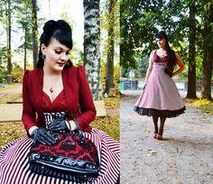More looks by Ventovir: http://lb.nu/ventovir  #elegant #formal #romantic #autumn #50s #lindybop #vintage #stripe #red