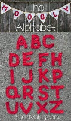 Free Crochet Alphabet by Moogly