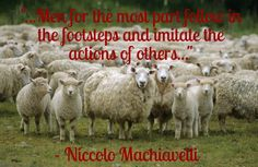 Blind sheep, from The Prince by Niccolo Machiavelli