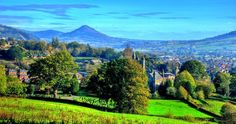 A reminder of how beautiful Christ Church and Welshpool looks in summer to help keep us all going. not long to go! By Colin Rogers How Beautiful, Vineyard, Golf Courses, Christ, To Go, That Look, Summer, Outdoor, Outdoors