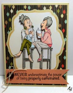 Coffee BFFs from Art Impressions.  young girlfriends card.