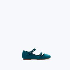 BUCKLED LEATHER BALLET FLATS