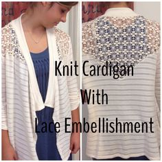 Loving this crochet Cardigan! Perfect for cool nights.