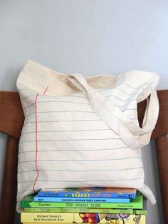 Notebook Tote | 33 DIY Gifts You Can Make In Less Than An Hour
