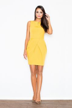 SilkFred - Unique fashion from the best independent brands Unique Fashion, European Fashion, Women's Fashion, Yellow Clothes, Cocktail, Dress Shirts For Women, Types Of Dresses, Dress Cuts, Chic Dress